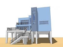 House Plans On Stilts Modern Beach House Plans Including Narrow Lot Floor Plan Trends