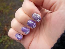 pretty nail designs to do at home