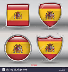 Colors Of Spains Flag Spain Flag Icon Round Stock Photos U0026 Spain Flag Icon Round Stock