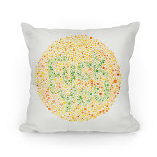 Color Blind Picture Color Blind Test Pillows T Shirts Tanks Coffee Mugs And Gifts