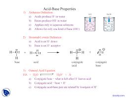 acid base properties chemistry lecture slides docsity