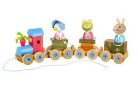 animal puzzle train orange tree toys