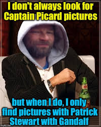 Patrick Stewart Meme Generator - sir ian mckellen aka gandalf aka magneto and also best friend of