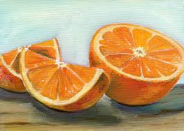orange painting how to paint an orange using the color wheel
