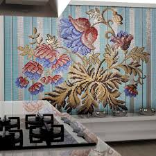 kitchen mosaic tile wall glass floral mediterranea kitchen mosaic tile wall glass floral mediterranea djerba