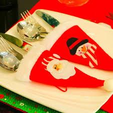 Porte Cuill 2 Pcs De Noël Caps Porte Couverts Fourchette Cuillère Poche De