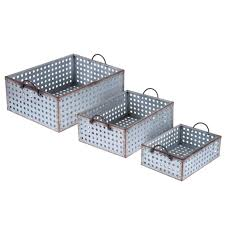 Metal Containers With Lids For Storage - storage bins galvanized metal storage boxes steel containers