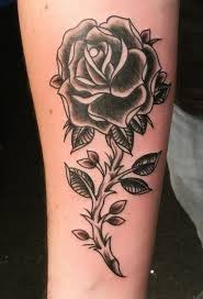 43 best black rose tattoo images on pinterest fashion flower