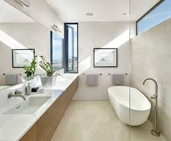 Modern Bathroom Windows Bathroom Ideas Narrow Bathroom Window With Freestanding Bathtub