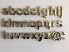 car chrome letters ebay