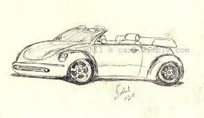 vehicle sketch u2013 5 u2013 vw beetle zimbly cars