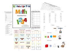 kindergarten common assessments math mrs wills kindergarten
