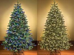 multi colored pre lit trees switchable color prelit