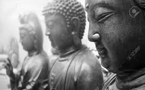 Statues Of Gods by Statues Of Ancient Gods Buddha And Avalokitasvara Stand Three