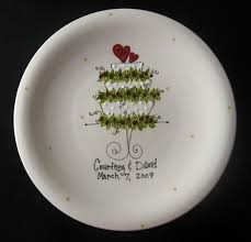 ceramic wedding plates painted ceramic wedding plate by cutiepatooties1 on etsy