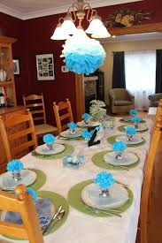 simple elegant table setting for baby boy u0027s christening or