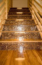 bamboo installed sanded and finished eclectic staircase