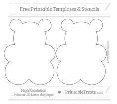 gummy bear pattern use the printable outline for crafts creating
