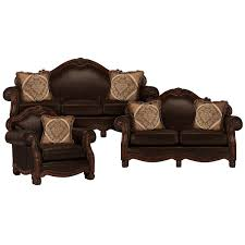 Brown Leather Loveseat City Furniture Regal Dark Tone Leather Loveseat
