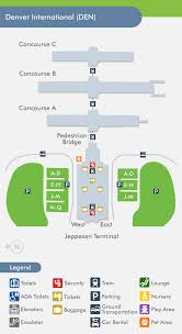 denver terminal b map denver airport den terminal map