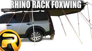 Retractable 4wd Awnings Rhino Rack Foxwing Vehicle Awning Set Up And Product Demo Youtube