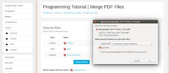 tutorial github pdf moodle in english working on a plugin to merge all pdf files in a