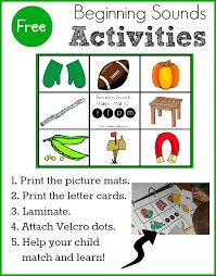 free beginning sounds activity for preschool u0026 kindergarten the