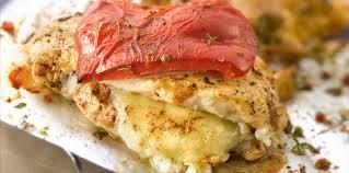 cuisiner des escalopes de poulet escalope de poulet au chèvre et au poivron au four facile et pas