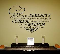 serenity prayer picture frame serenity prayer vinyl wall decal by designstudiosigns on etsy