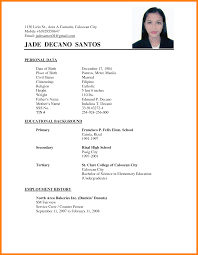 resume format 2017 philippines 5 sle resume in philippines target cashier