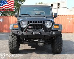 jeep prerunner bumper tj lj front bumper vanguard full width powder coat jcr offroad 4