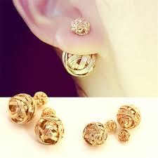 gold earrings studs 31 model gold earrings studs for women playzoa