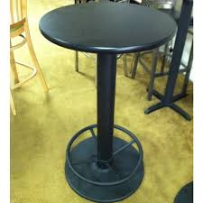 bar height table base with foot ring 18 round bar height steel restaurant table base with foot rest