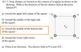 Rightcorner 18 7 7 Four Charges Are Located On The Corners Of Chegg Com