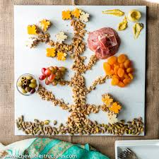 snacks to make cheese and charcuterie tree