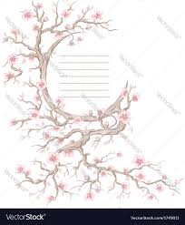 cherry blossom tree hand drawn cherry blossom tree royalty free vector image