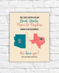 personalized gift for aunt and uncle custom maps by picmats