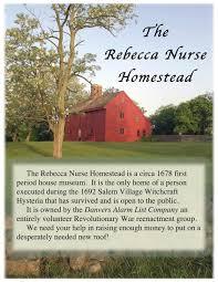 the rebecca nurse homestead provides visitor service information