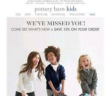 Pottery Barn Kid Promo Code Pottery Barn Kids Us Nationwide Coupons Ebay
