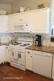 Painted Off White Kitchen Cabinets Painted Kitchen Cabinets With White Appliances Kitchen Crafters