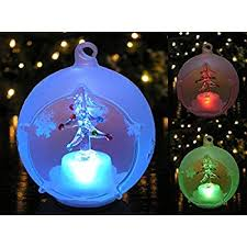 globe ornament led lighted glass
