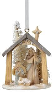 enesco foundations mini nativity ornament traditional