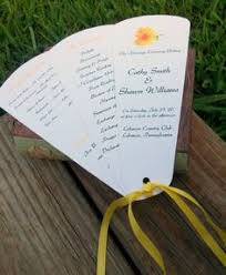 Fan Kits For Wedding Programs Diy Program Fan Indd Template We Can Print And Cut Our Own Http