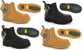 steel toe cap boots slip on boot end