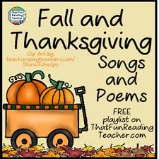 fall and thanksgiving songs and poems free playlist that