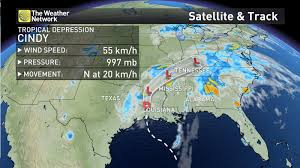 Canada Weather Map Forecast by News One Dead As Cindy Weakens Moves North The Weather Network