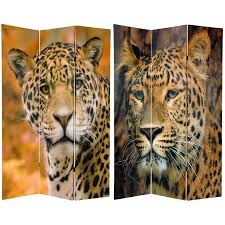 Oriental Room Dividers by 6 Ft Tall Double Sided Leopard Room Divider Roomdividers Com
