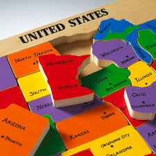 wooden usa map puzzle with states and capitals us map puzzle state capitals learning states and capitals