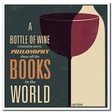 Book Birthday Card Lettered Card Wine Books Philosophy Birthday Card