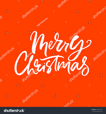 merry handdrawn lettering unique stock vector